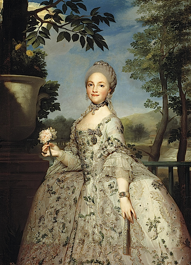 1765ca. Maria Luisa of Parma, Princesa de Asturias by Anton Rafael Mengs (Coleccion Real)
