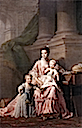 1765ca. Queen Charlotte with her two children by Allan Ramsay (Royal Collection)