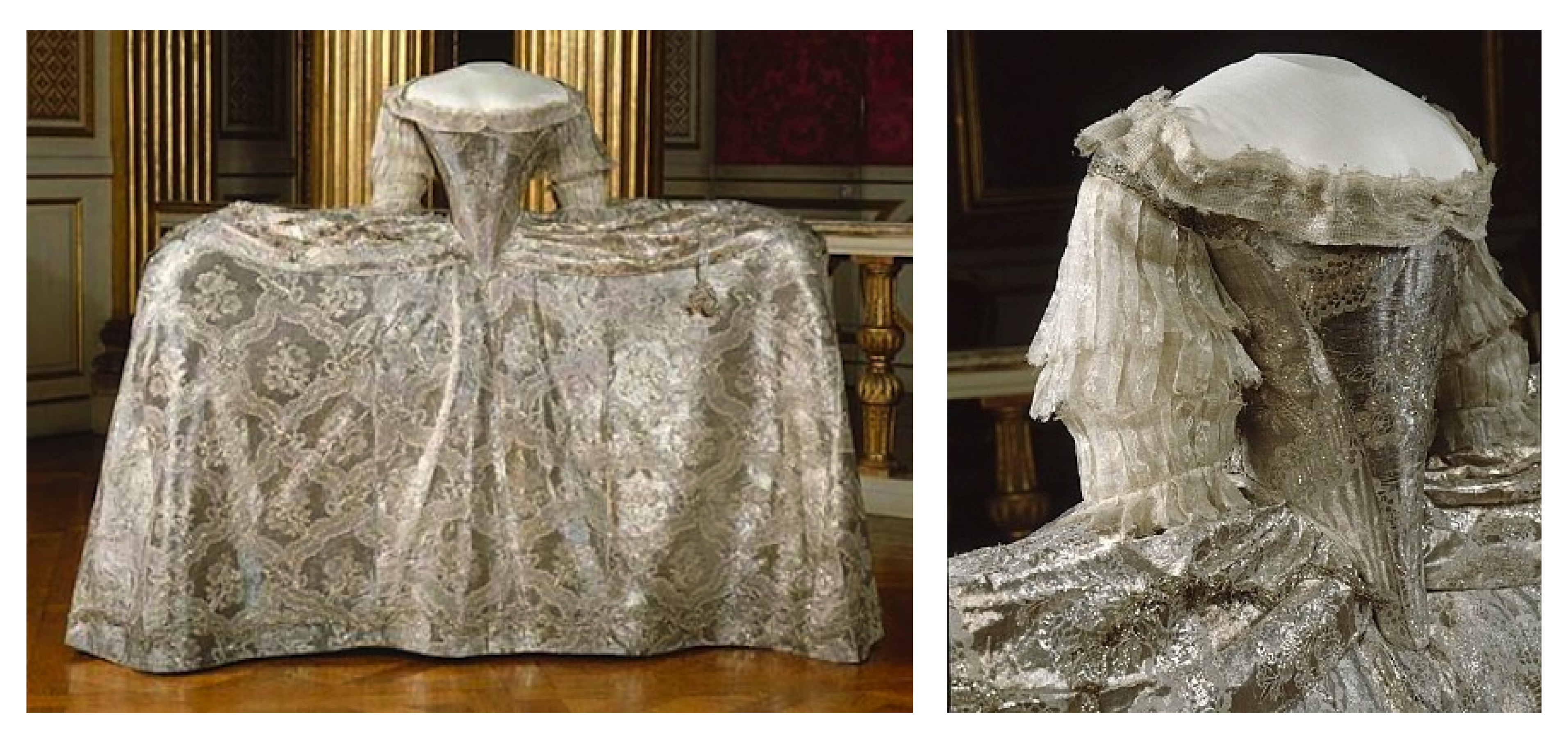 4af84da272cd 1766 Sophia Magdalena of Denmark's wedding dress made in Paris ...