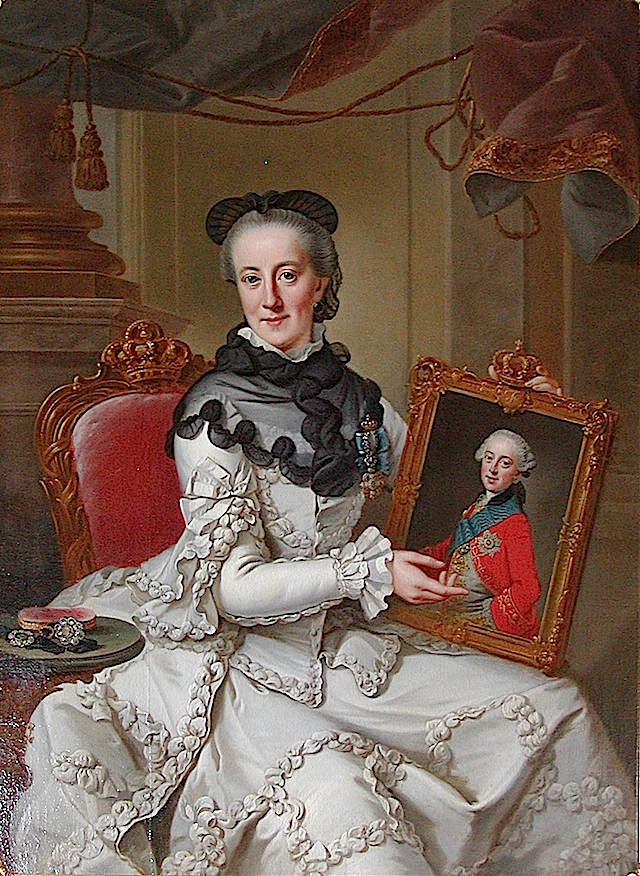 1766-1767 Juliane Marie of Denmark by Johann Georg Ziesenis (Danish Royal Collection, Frederiksborg Slot)