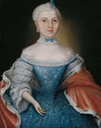 1767 Auguste Eleonore, Countess zu Stolberg-Stolberg (1748-1821), wife of Count Christian Friedrich zu Stolberg-Wernigerode (1746-1824) by F. W. Hoepffner (auctioned by Lempertz) From the Lempertz Web site decrack removed slider at bottom