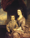 1764-1767 Elizabeth, Countess of Pembroke and Her Son by Sir Joshua Reynolds (private collection)