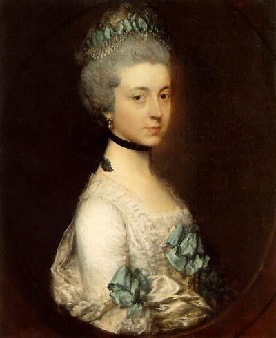 1767ca. Lady Elizabeth Montagu, Duchess of Buccleuch and Queensberry by Thomas Gainsborough (Boughton House, Northamptonshire UK)