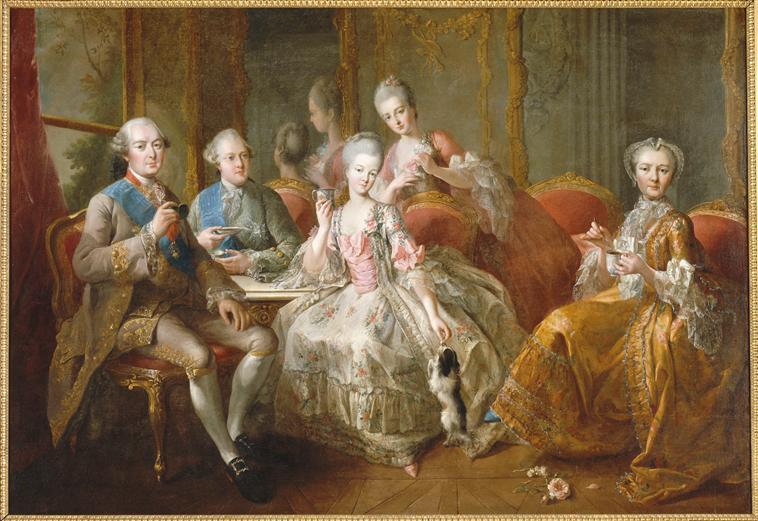 1768 la famille du duc de penthievre by jean baptiste for Au jardin de la famille de fabreville