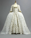 1770s Embroidered court gown (auctioned by Christie's) from the front