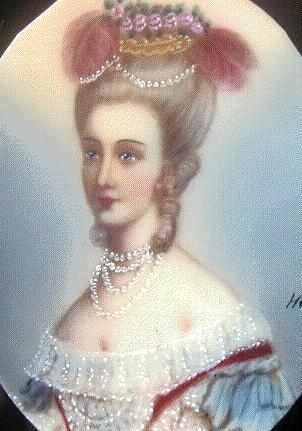 1773 Miniature of Marie-Antoinette