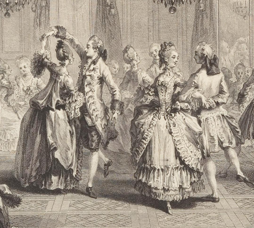1774 Le Bal Paré by Antoine Jean Duclos (French, Paris, 1742–1795) Etching  after Augustin de Saint-Aubin (Metropolitan Museum of Art - New York City,  ...