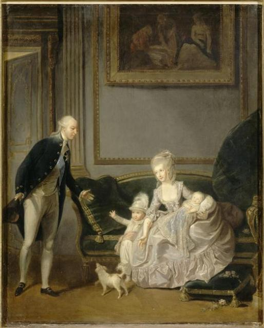 1774 Duke and Duchess of Chartres with Louis Philippe d'Orléans by Charles Lepeintre