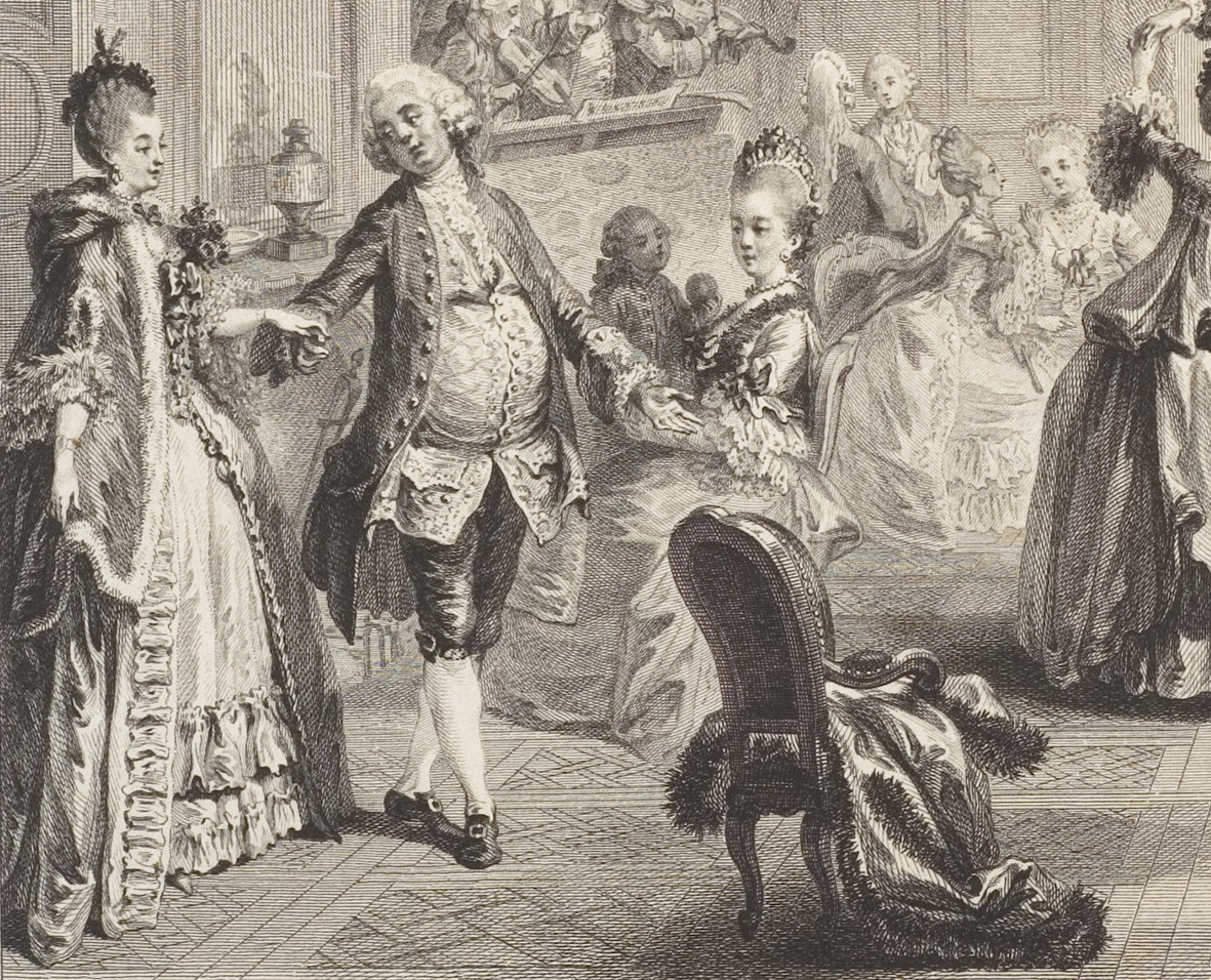 1774 Le Bal Paré by Antoine-Jean Duclos (French, Paris, 1742–