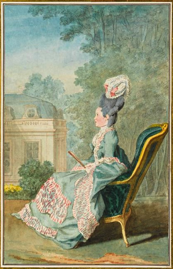 1774 Mademoiselle de Mercy, de Villiers-Cotterets by Louis Carrogis (Musée Condé - Chantilly France) Photo - René Gabriel Ojéda