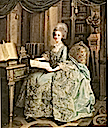 1776 Madame Sophie resting in her library by Louis Lie Perrin-Salbreux (Musee des beaux-arts de Reims, Reims France)
