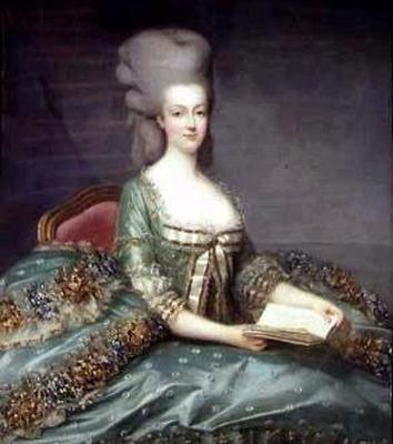 1777 Marie Antoinette Wearing Expansive Skirt