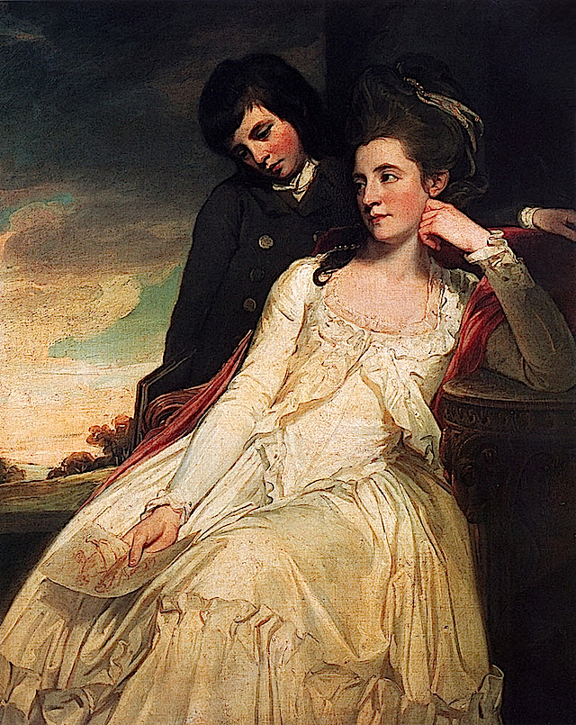 1778 Jane Maxwell, Duchess of Gordon, with her son, George Duncan, later 5th Duke of Gordon by George Romney (National Galleries of Scotland, Edinburgh)