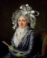 1780 Portrait of Madame de Genlis by Adelaide Labille-Guiard (Los Angeles County Museum of Art, Los Angeles, California USA)