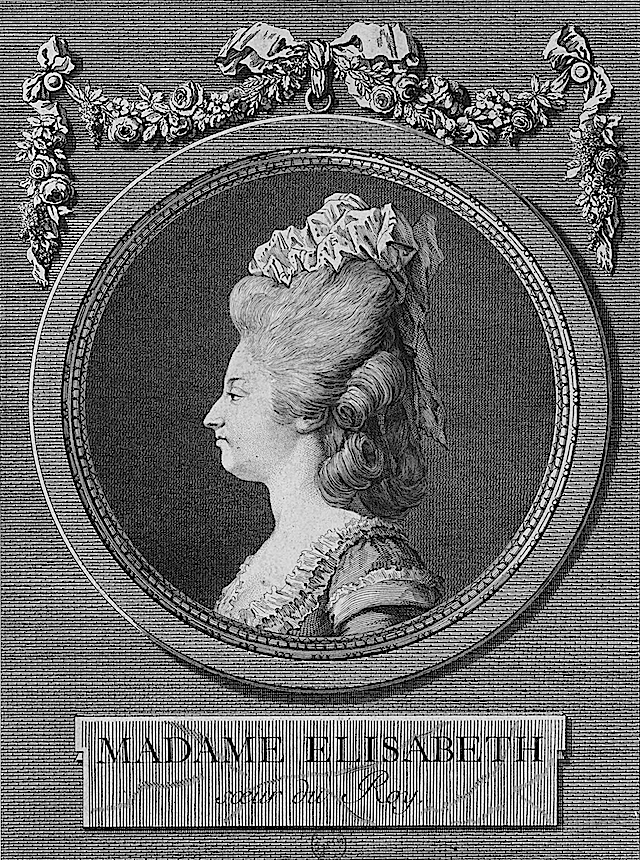 1780 Elisabeth of France by Marie Louise Adélaïde Boizot after Louis-Simon Boizot (Bibliothèque nationale de France - Paris France)