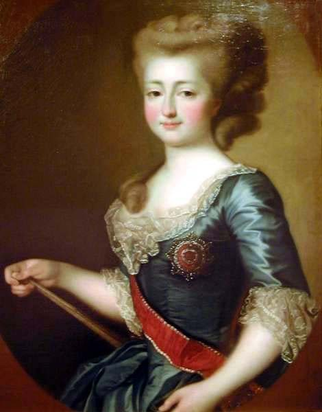 1780s Maria Feodorovna by Gavriil Skorodumov (location unknown to gogm, possibly Russian Museum, St. Petersburg)