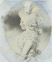 1781 Isabella, 2nd Marchioness of Hertford, as Lady Beauchamp by John Downman (Wallace Collection - London UK)
