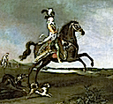 1783 Equestrian portrait of Marie Antoinette in hunting attire by 1783 Equestrian portrait of Marie Antoinette in hunting attire by Louis Auguste Brun de Versoix (Versailles)