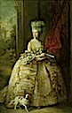 1781 Queen Charlotte in formal dress by Thomas Gainsborough (Royal Collection)