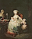 1782 Marie Antoinette and her children by Charles Leclercq (location unknown to gogm)
