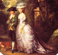1783-1785 The Duke and Duchess of Cumberland detail by Thomas Gainsborough (Royal Collection)