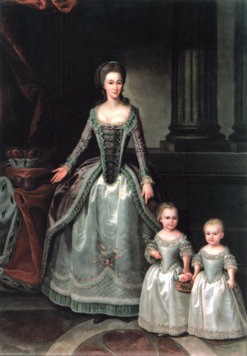 1783 - before (birth of 3d daughter) Dorothea with her daughters