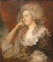 1784 Mrs. Fitzherbert by Thomas Gaisborough (Fine Arts Museums of San Francisco, Palace of the Legion of Honor - San Francisco, California USA) Photo - eric