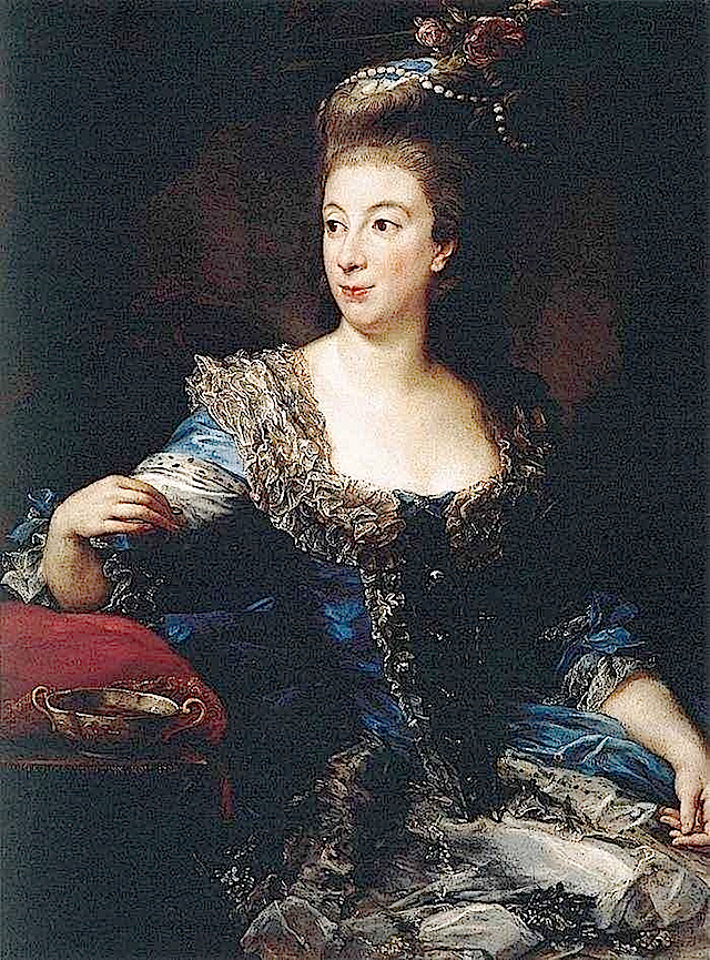 1785 Countess of San Martino by Pompeo Batoni (Museo Thyssen-Bornemisza, Madrid Spain) lightened