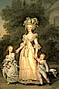 1785 Marie Antoinette Walking in the park at Versailles with her Children, Louis Charles and Madame Royale by Adolf Ulrich Wertmüller