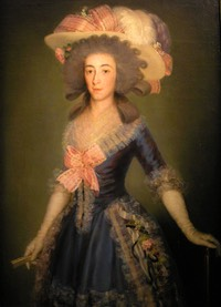 ca. 1785 Duquesa de Osuna by Francisco de Goya y Lucientes (private collection) W