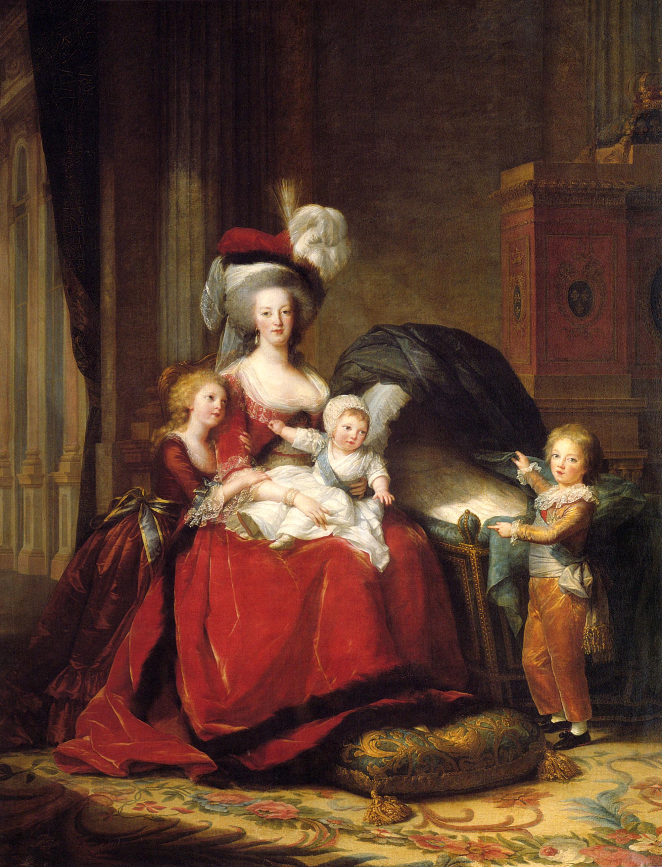 1787 Marie Antoinette and children by Élisabeth-Louise Vigée-Lebrun  (Châteaux de Versailles