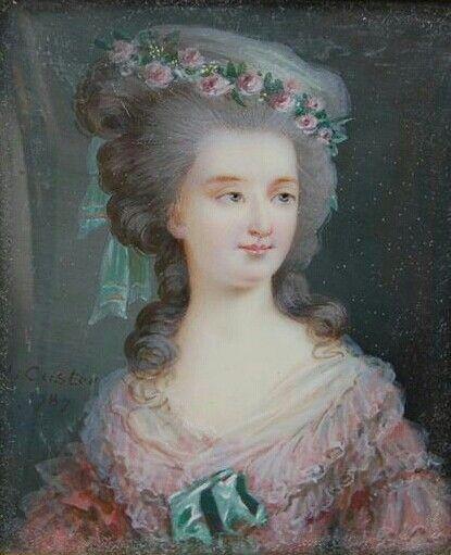 1787 Marie-Thérèse-Louise de Savoie-Carignan, princesse de Lamballe ...