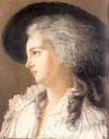 1787 Yolande Martine de Polastron, duchess de Polignac pastel by Elisabeth-Louise Vigee-Lebrun (Gramont collection)