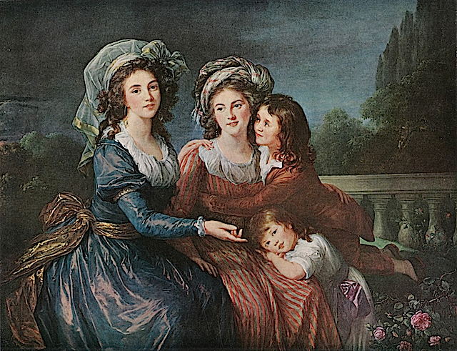 1787 Marquise de Pezay (or Pezé), and the Marquise de Rougé with Her Sons Alexis and Adrien by Élisabeth Louise Vigée-Lebrun (National Gallery of Art - Washington, DC USA)