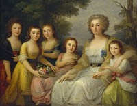 1788 Countess Anna Stepanovna Protasova with her nieces by Angelika Kauffmann (State Hermitage Museum - St. Petersburg, Russia) Wm