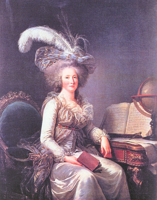 1788 Madame Élisabeth in a gown à la Turc by Adélaïde Labille-Guiard (location unknown to gogm) From madameguillotine.org.uk:2010:02:27:madame-elisabeth-the-beginning-of-the-end-2: