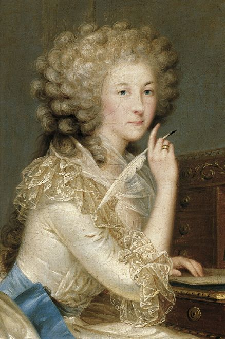 1788 Portrait of Marie-Therese, Princesse de Lamballe by Anton ...