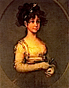 1800 Maria Isabella Borbon by Francisco José de Goya y Lucientes (location unknown to gogm)