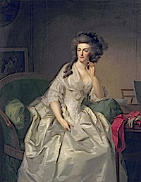 1789 Princess Frederika Sophia Wilhelmina, Princess of Prussia by  Johann Friedrich August Tischbein (Mauritshuis, Den Haag)