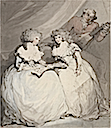 1790 Spencer Sisters Duchess of Devonshire) and her sister Viscountess Duncannon (later Countess of Bessborough) by Thomas Rowlandson