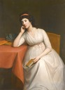 1790s Lady (probably Lady Charlotte McDonnell, 3rd Countess of Antrim) by Hugh Douglas Hamilton (auctioned by Sotheby's)