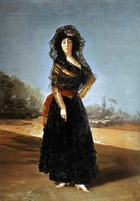 1791 Duchess of Alba by Francisco José de Goya y Lucientes (Hispanic Society of America - New York City, New York USA)