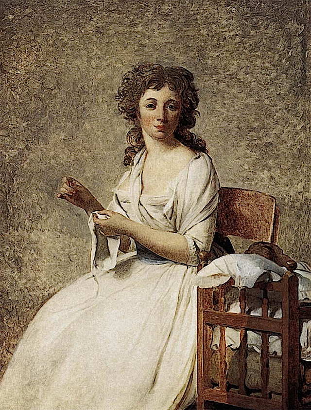 1791-1792 Madame Adélaide Pastoret by Jacques-Louis David (Art Institute of Chicago, Chicago USA)