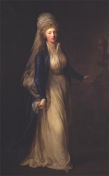 1791 Princess Louise Auguste of Denmark by Anton Graff (Rosenborg Slot, Kobenhavn)