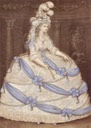 1795 Princess Caroline of Wales wearing court dress