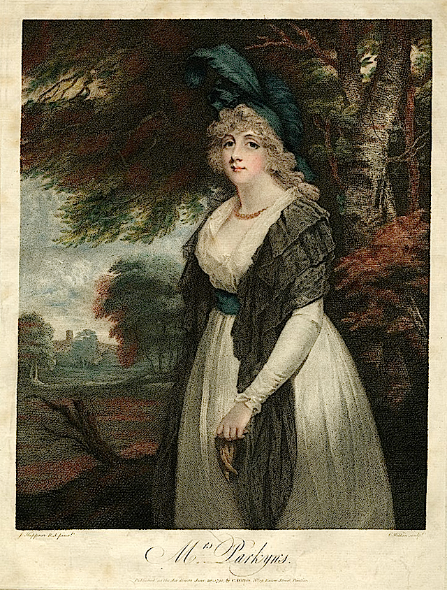 1795 Lady Rancliffe nee Elizabeth Anne James, married to Thomas Boothby Parkyns, 1st Baron Rancliffe by John Hoppner (British Museum - London, UK)