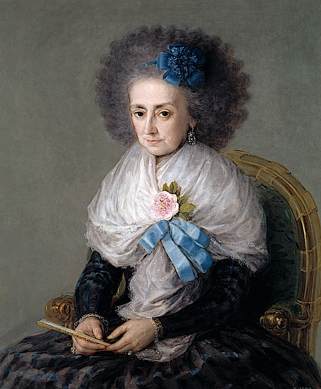 1795 María Antonia Gonzaga, Marquise widow of Villafranca by Francisco de Goya y Lucientes (Museo Nacional del Prado - Madrid Spain)