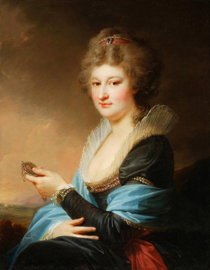 1797-1798 Józefa Massalska née Radziwiłł, 2nd marriage Grabowska by Giovanni Battista Lampi, 1797-1798 (Muzeum Narodowe w Warszawie) From pinterest.com:artinpl:muzeum-narodowe-w-warszawie-mnw: