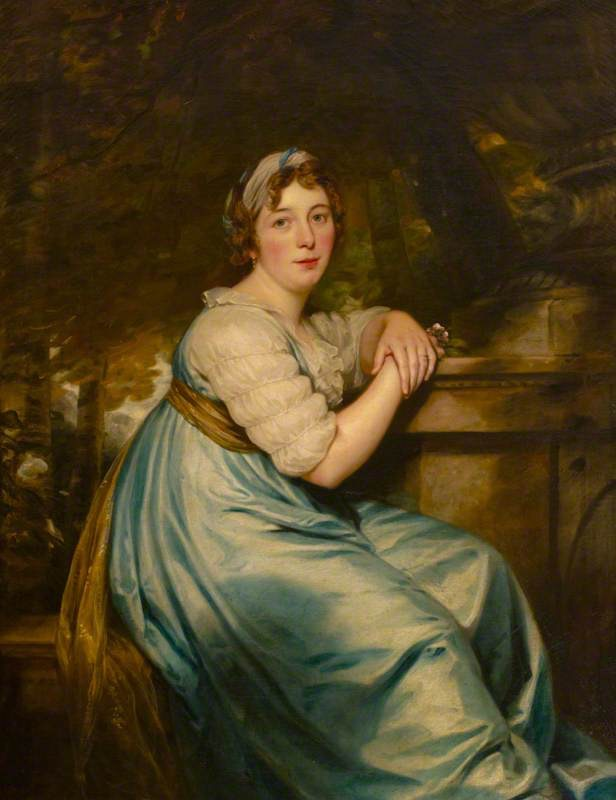 1797 Elizabeth Iliffe, Countess of Egremont by Thomas Phillips (Petworth House and Park - Petworth, West Sussex, UK) From the-athenaeum.org