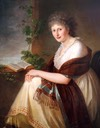 1799 Elisabeth Christiane Freifrau von Bouwinghausen by Philipp Friedrich Hetsch (Germanisches Nationalmuseum - Nuremburg, Bayern, Germany) Wm